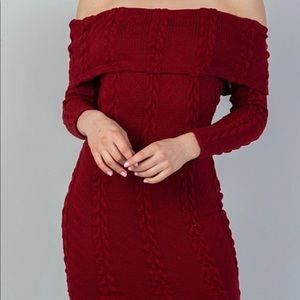 Women's Bodycon Ribbed Long Sleeve Dress
